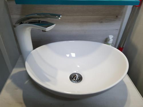 Salle de bains dans l'établissement Hypercentre - Charme de l'ancien
