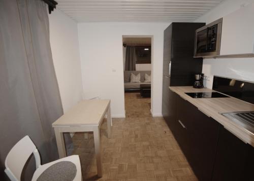 Kuchyň nebo kuchyňský kout v ubytování Apartment ILWA