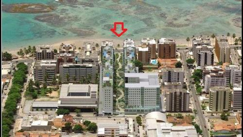 A bird's-eye view of Apt em Condomínio de Luxo a Beira Mar de Maceió
