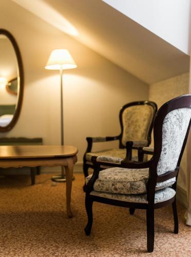 Гостиная зона в Отель Усадьба