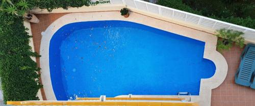 Uitzicht op het zwembad bij Apartamentos Latin of in de buurt