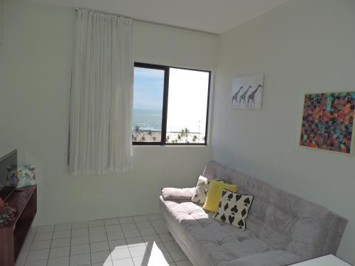 A seating area at Flat Pina/Boa Viagem
