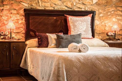 Cama o camas de una habitación en Amborget