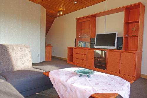 TV/Unterhaltungsangebot in der Unterkunft Ferienwohnung mit Wasserbett FW3