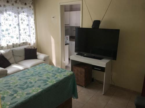 A bed or beds in a room at Kitnet no Derby, Recife - 206