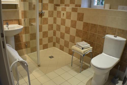 Salle de bains dans l'établissement LE RELAIS DE CISAI Gite2