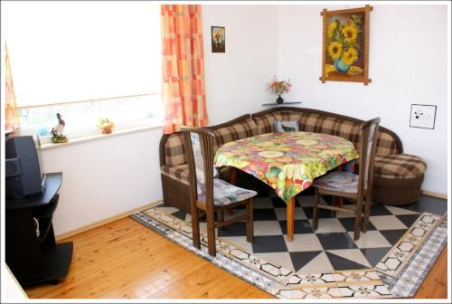 Uma área de estar em Villa Doris