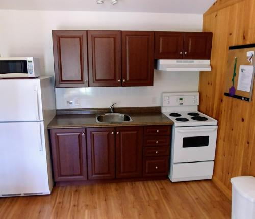 A kitchen or kitchenette at Millstream Cottages