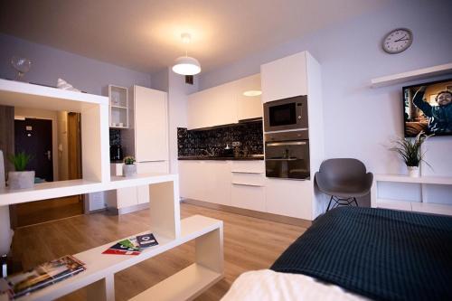 Χώρος καθιστικού στο LETNANY Apartments - Standerova Prague