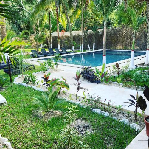 Piscine de l'établissement Tierra Maya Hotel Spa & Sanctuary ou située à proximité