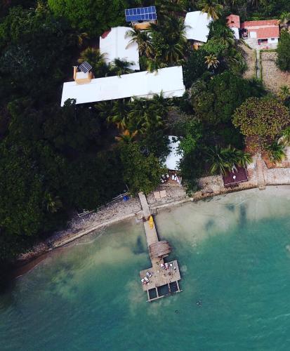 A bird's-eye view of Isla Fuerte Eco House