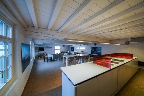A kitchen or kitchenette at Huidevetterken duplex