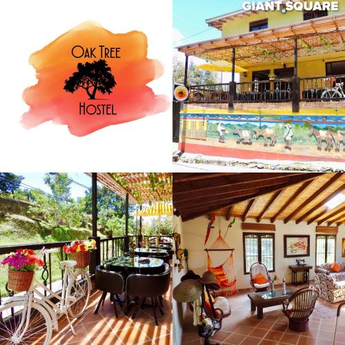 A restaurant or other place to eat at Oak Tree house
