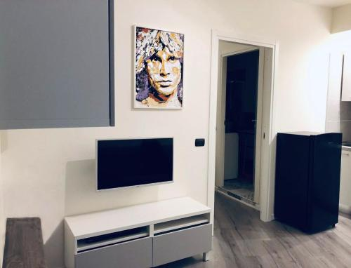 A television and/or entertainment center at Can Dani