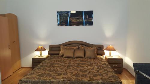 Ein Bett oder Betten in einem Zimmer der Unterkunft Haberlgasse