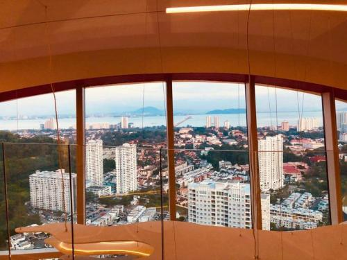 A general view of Bayan Lepas or a view of the city taken from the apartment