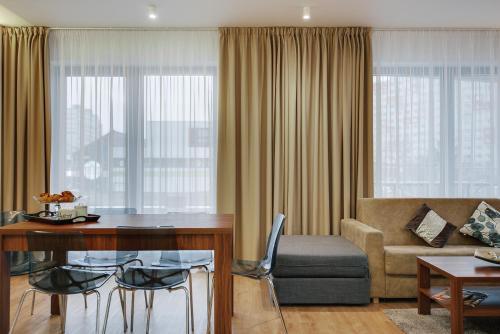 Гостиная зона в Exclusive Apartments in Luka