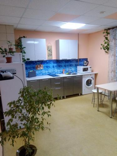 Кухня или мини-кухня в Hostel Den' & Noch'