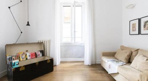 Coin salon dans l'établissement App Leoncino Design Apartment in Rome
