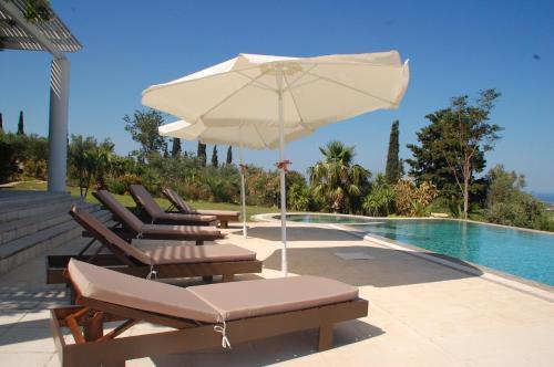 Het zwembad bij of vlak bij Villa Kitrini