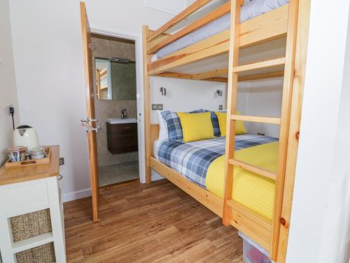 A bunk bed or bunk beds in a room at Bramble, Norwich