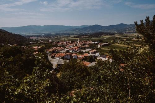 Ptičja perspektiva nastanitve Tomažič Family Farm Winery