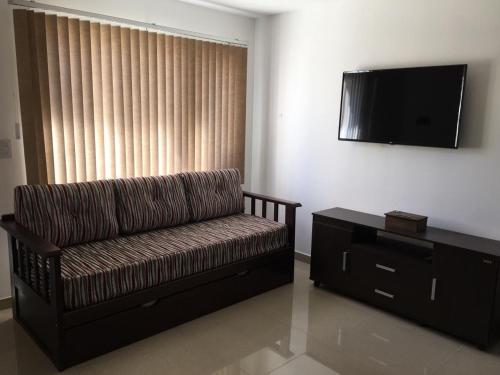 Un lugar para sentarse en Apartamento El Maiten