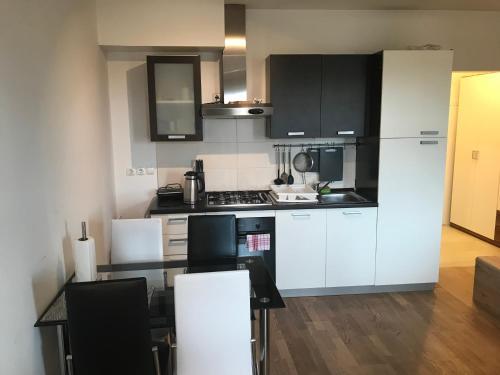 A kitchen or kitchenette at Apartment Na skali