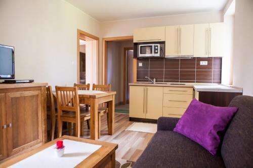 Kuchyňa alebo kuchynka v ubytovaní Apartmany Belianky