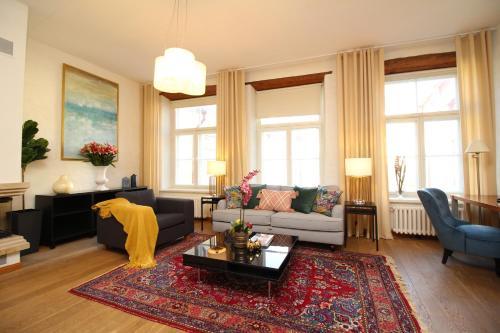 Istumisnurk majutusasutuses Tallinn City Apartments Old Town Toompea