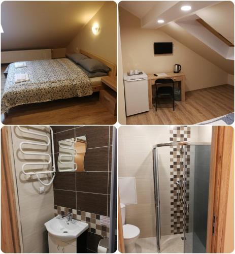 Vonios kambarys apgyvendinimo įstaigoje Viešbutis Kelyje