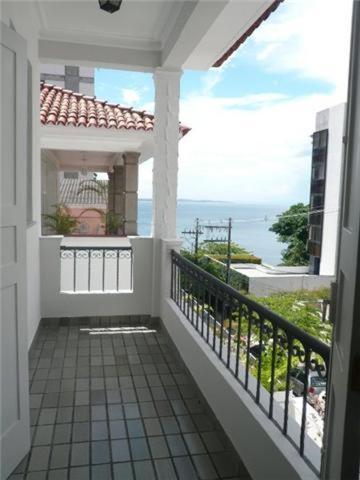 A balcony or terrace at Pousada Casa da Vitória