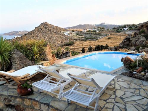 The swimming pool at or near Patmos Exclusive Villas