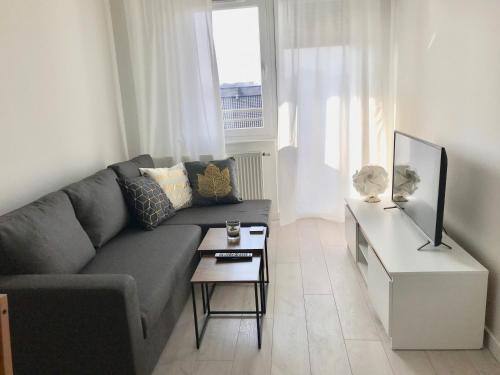 A seating area at Apartament Antoniny