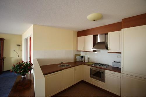 Cuisine ou kitchenette dans l'établissement Residence Zeezicht