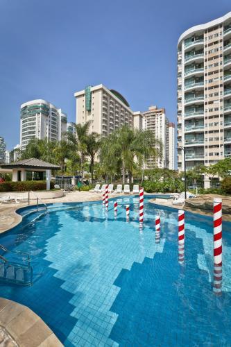 The swimming pool at or near Bourbon Barra da Tijuca Residence