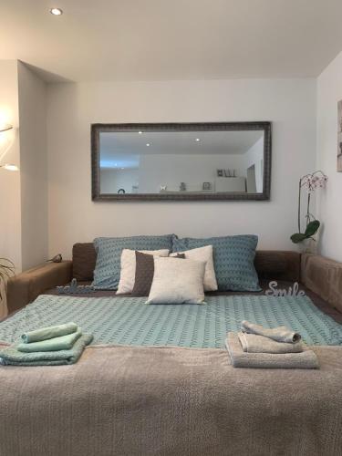 Posteľ alebo postele v izbe v ubytovaní Old Town Apartment Podtatranskeho