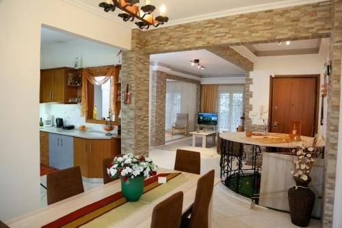 A kitchen or kitchenette at Panorama View Apartment