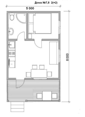 The floor plan of Guest House Belye Rosy
