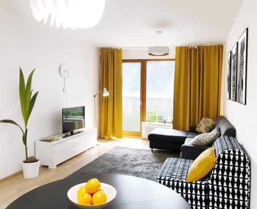 Posezení v ubytování Golf apartment