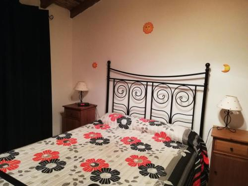 A bed or beds in a room at O Meu Refugio