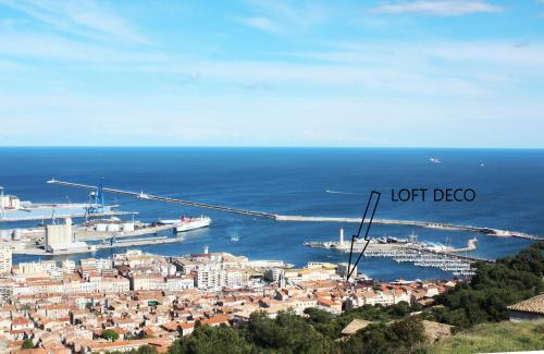 Vista aerea di Loft Déco tout confort au coeur du quartier Haut