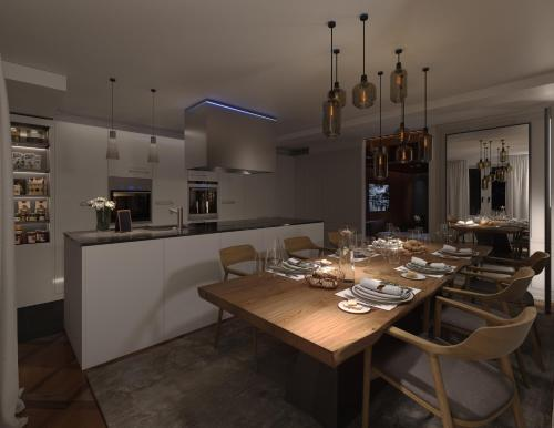 A restaurant or other place to eat at Le Bijou LQ82 Spectacular Limmatview Penthouse
