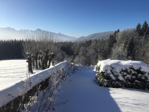 gite de la Cordeliere during the winter