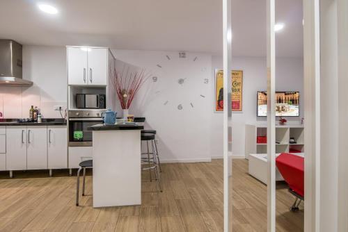 Een keuken of kitchenette bij Apartamento San Isidro