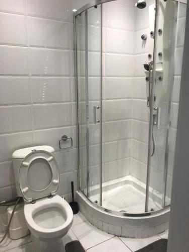 A bathroom at Luxury House By Hyde Park