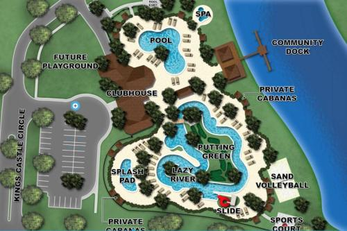 Uma vista aérea de E - New 2 Bedroom Condo - 5 Miles to Disney - Free Water Park