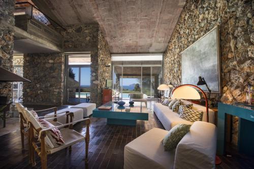 Area soggiorno di Ansedonia Perfect Villa