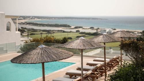 A view of the pool at Phoenicia Naxos or nearby