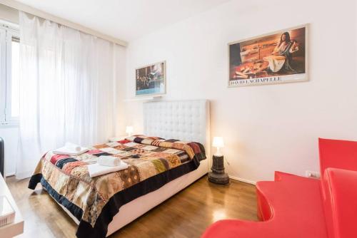 Letto o letti in una camera di 5 Borgo San Jacopo